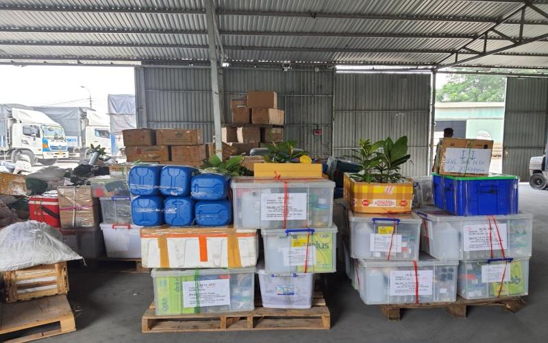 Các mặt hàng rất đa dạng khi vận chuyển hàng hóa Bắc Trung Nam